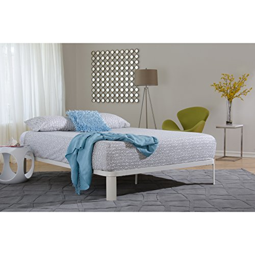 Overstock In Style Furnishings Lunar White Platform Bed