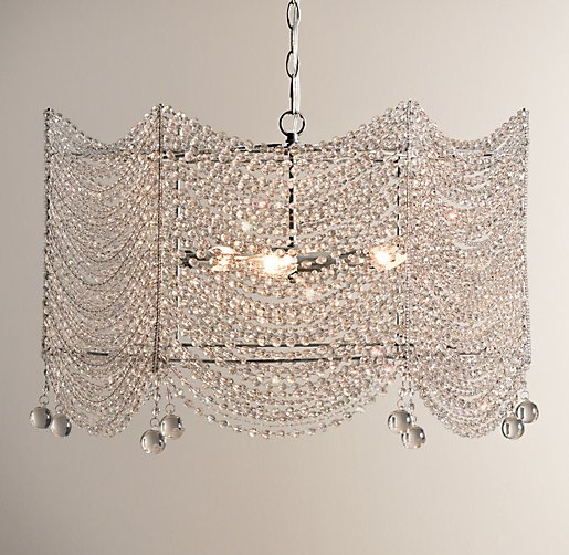 Restoration Hardware Baby & Child Coco Crystal Large Chandelier