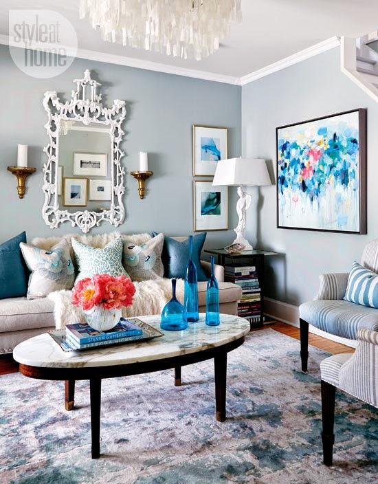 Copy cat chic room redo sky blue living room copycatchic for Sky blue living room ideas