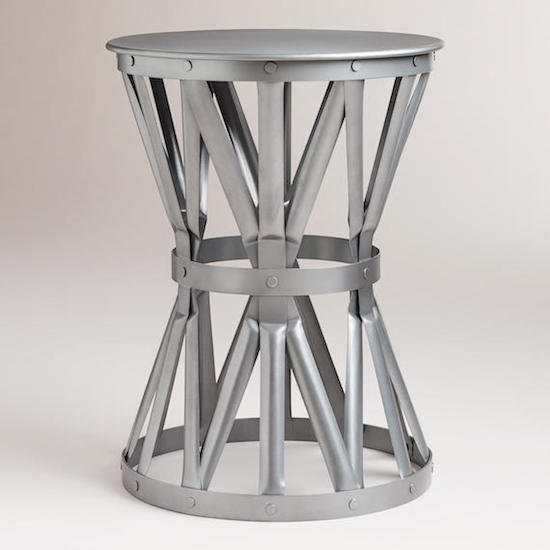 Cost Plus World Market Gunmetal Lawford Accent Table
