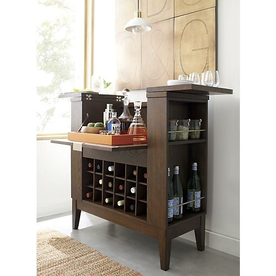 Crate Amp Barrel Parker Spirits Bourbon Cabinet Copy Cat Chic