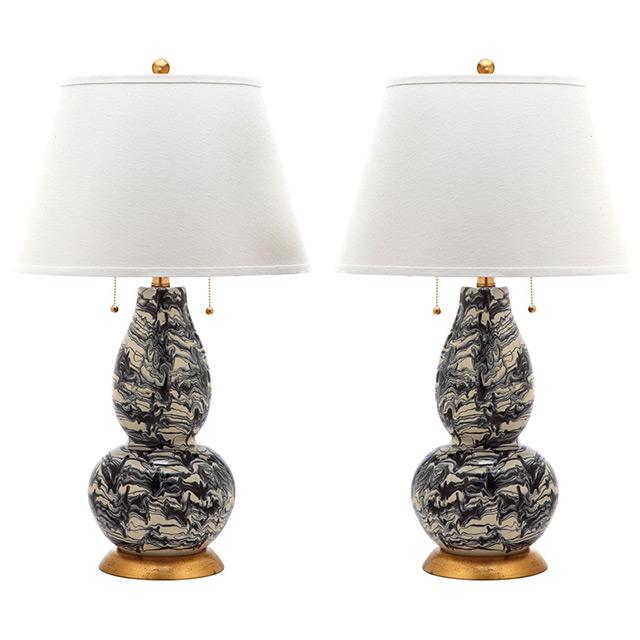 Layla Grayce Color Swirls Table Lamp Copy Cat Chic