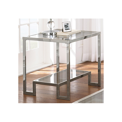 Z Gallerie Duplicity End Table $499. Overstock Cordele Chrome And Glass End  Table
