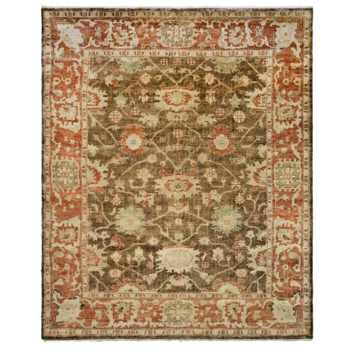 Overstock Safavieh Hand Knotted Oushak Brown Rug 8 x 10