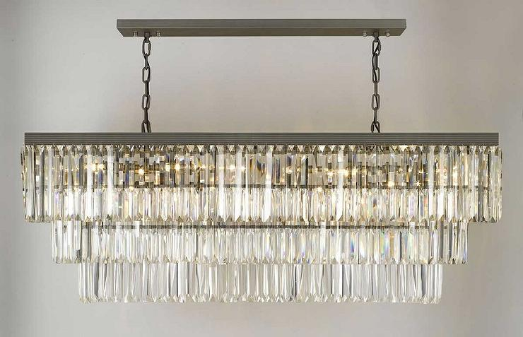 Restoration hardware 1920s odeon clear glass fringe chandelier retro odeon glass fringe rectangular chandelier aloadofball