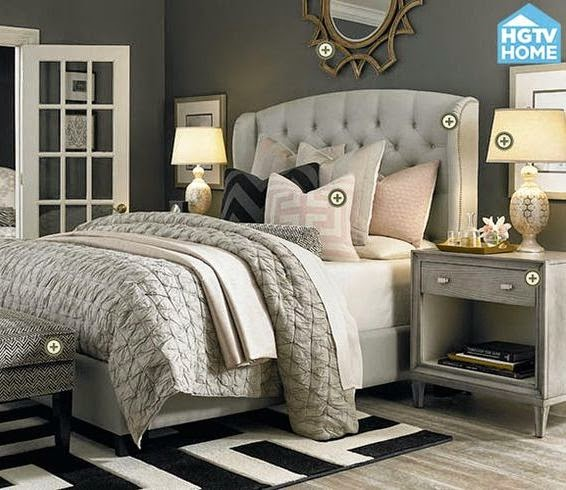 Grey Master Bedroom: Glamorous Gray Bedroom - Copycatchic