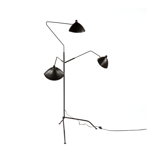 Design within reach serge mouille three arm floor lamp Serge mouille three arm floor lamp
