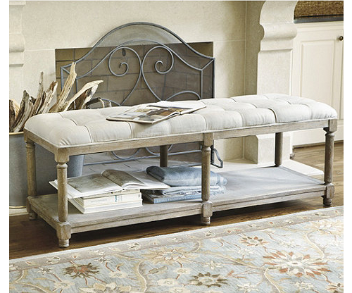 Ballard Designs Saverne Tufted Bench