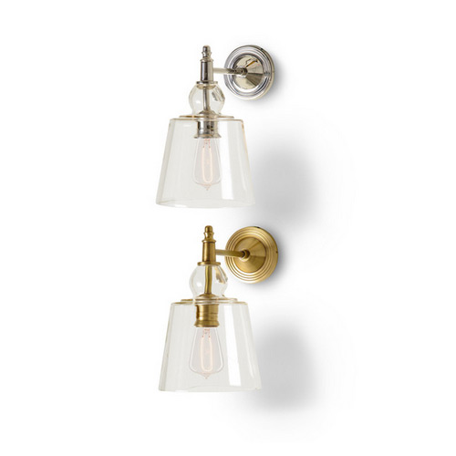 BURKE DECOR BARBARA COSGROVE SCONCE WITH GLASS SHADE