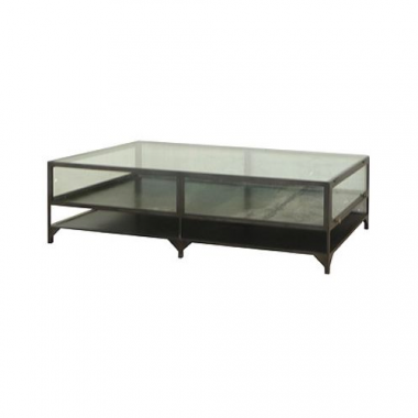 Clayton Gray Shadow Box Coffee Table