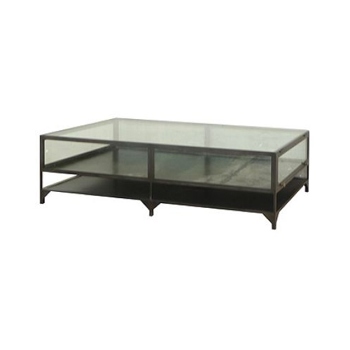 Clayton Gray Shadow Box Coffee Table Copy Cat Chic