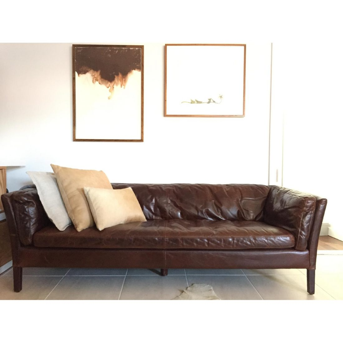 Restoration Hardware Leather : Restoration hardware sorensen leather sofa copy cat chic