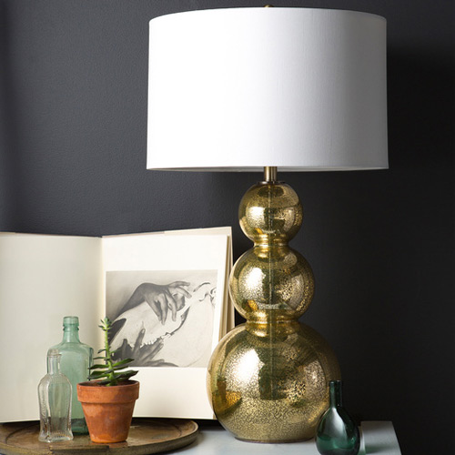 Overstock Glamorous Gold Glass Table Lamp