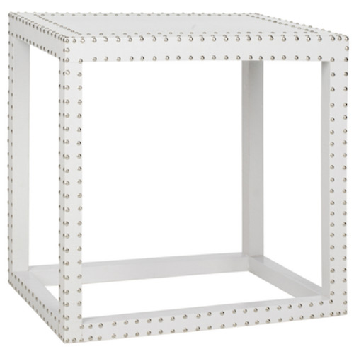 Overstock Safavieh Lena White End Table