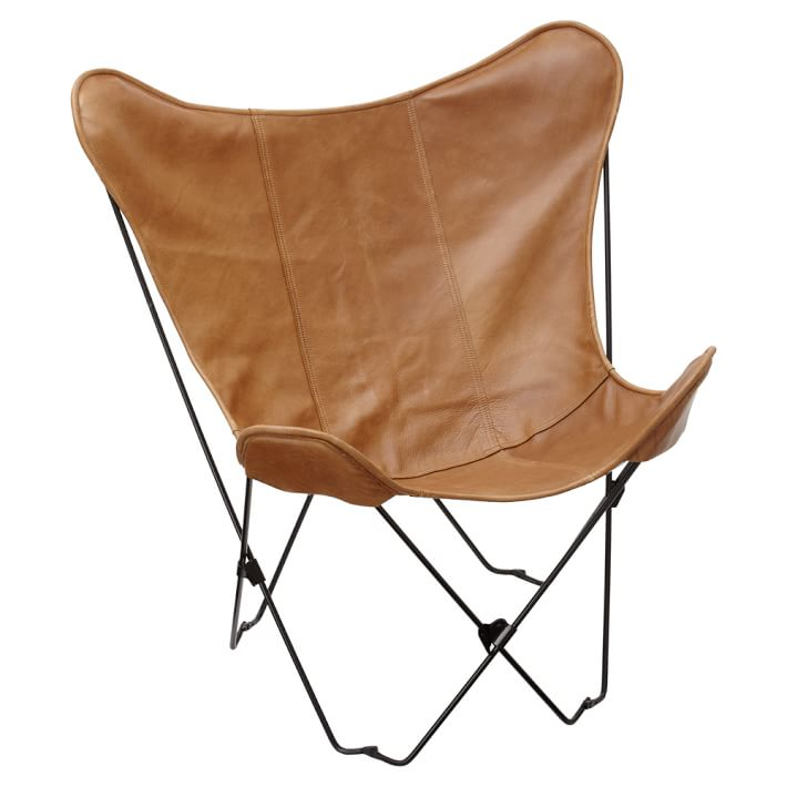 Cb2 1938 Tobacco Leather Butterfly Chair Copycatchic