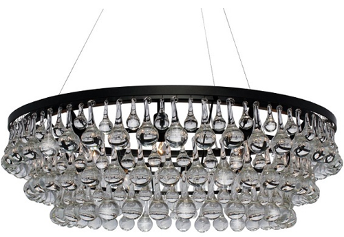 Trend Celeste Dark Antique Bronze Glass Drop Crystal Chandelier