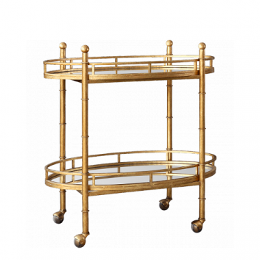 Pure Home Gold Normandy Bar Cart