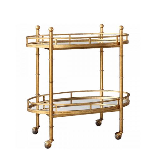 Pure Home Gold Normandy Bar Cart