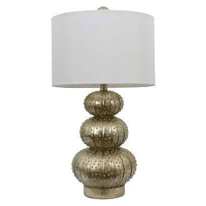 Target Silver Leaf Stacked Sea Urchin Lamp