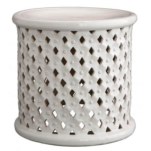Wisteria Diamond-Pattern Stool
