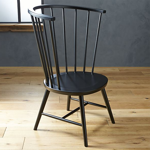 Crate And Barrel Riviera Black Tall Windsor Side Chair