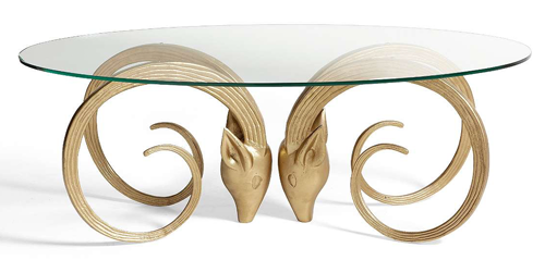 Grandin Road Aries Table in Gold