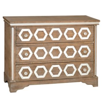 Kirkland's Natural Weathered Mirrored 3-Drawer Chest