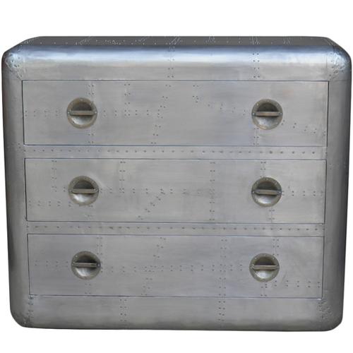 Overstock Aero 3-drawer Silver Chest Nightstand