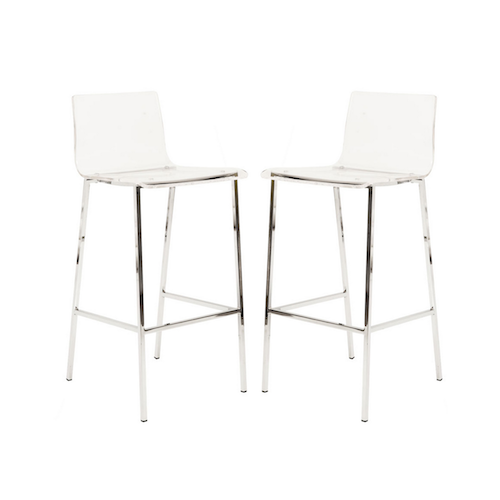 Exceptionnel Overstock Pure Decor Clear Acrylic Counter Stool (set Of 2)