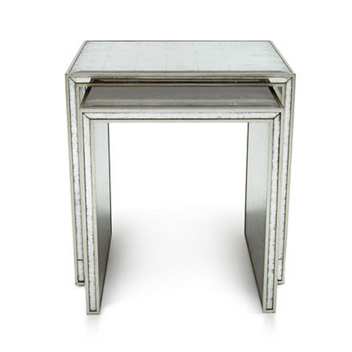 Horchow John-Richard Collection Eglomise Nesting Side Tables