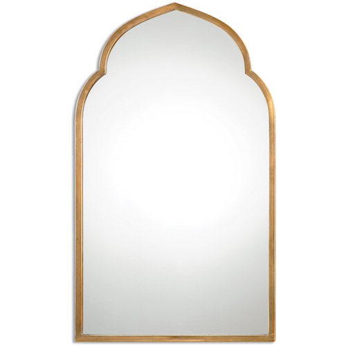 Overstock Kenitra Gold Arch Decorative Wall Mirror