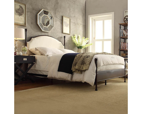 Spectacular Overstock INSPIRE Q Andover White Curved Top Cherry Brown Metal Poster Bed