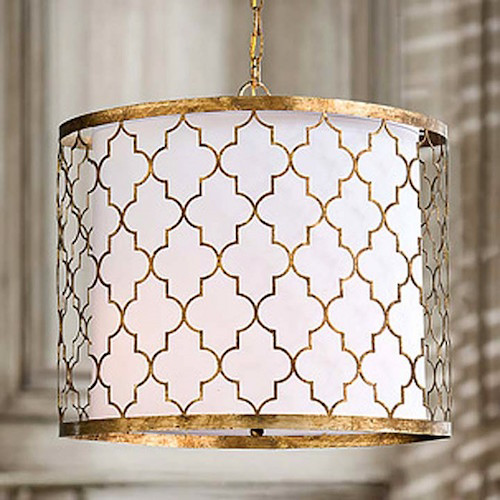 Layla Grayce Regina Andrew Lighting Gold Patterned Pendant