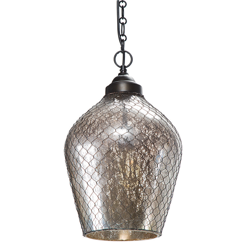 Zinc Door Regina Andrew Glass & Wire Cage Pendant