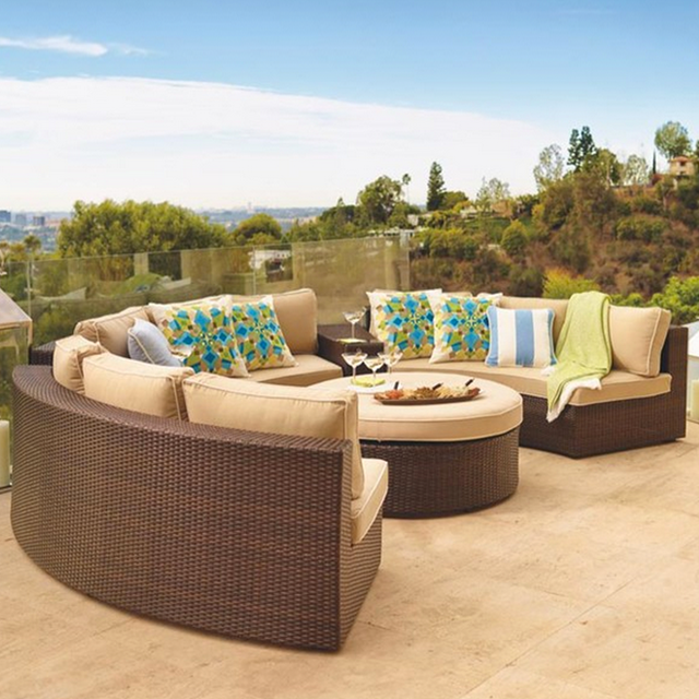 Front Gate Pasadena Modular Outdoor Collection plus ottoman