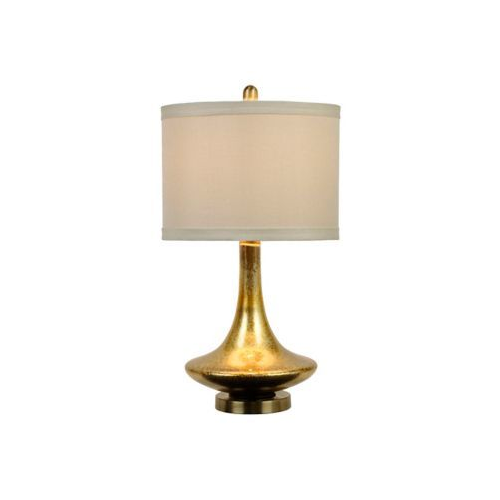 Kirkland's Mid-Century Gold Glass Table Lamp