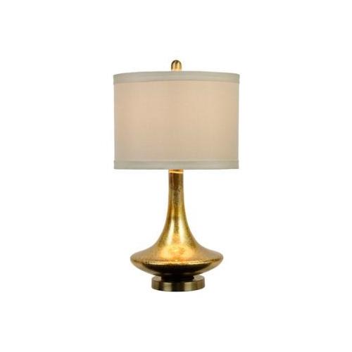 Kirkland's Mid-Century Gold Glass Table Lamp