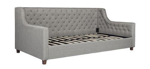 Overstock DHP Jordyn Grey Linen Upholstered Daybed