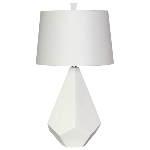 Surya Jewel White Ceramic Table Lamp