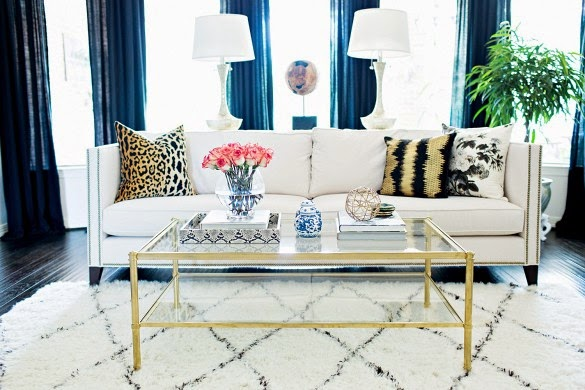 Copy Cat Chic Room Redo | Eclectic Glam Living Room