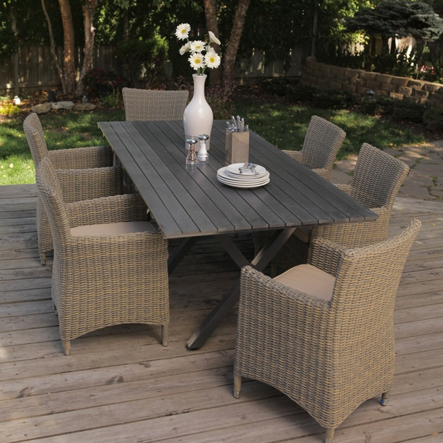 Hayneedle Belham Living Bella All Weather Wicker Patio Dining Set