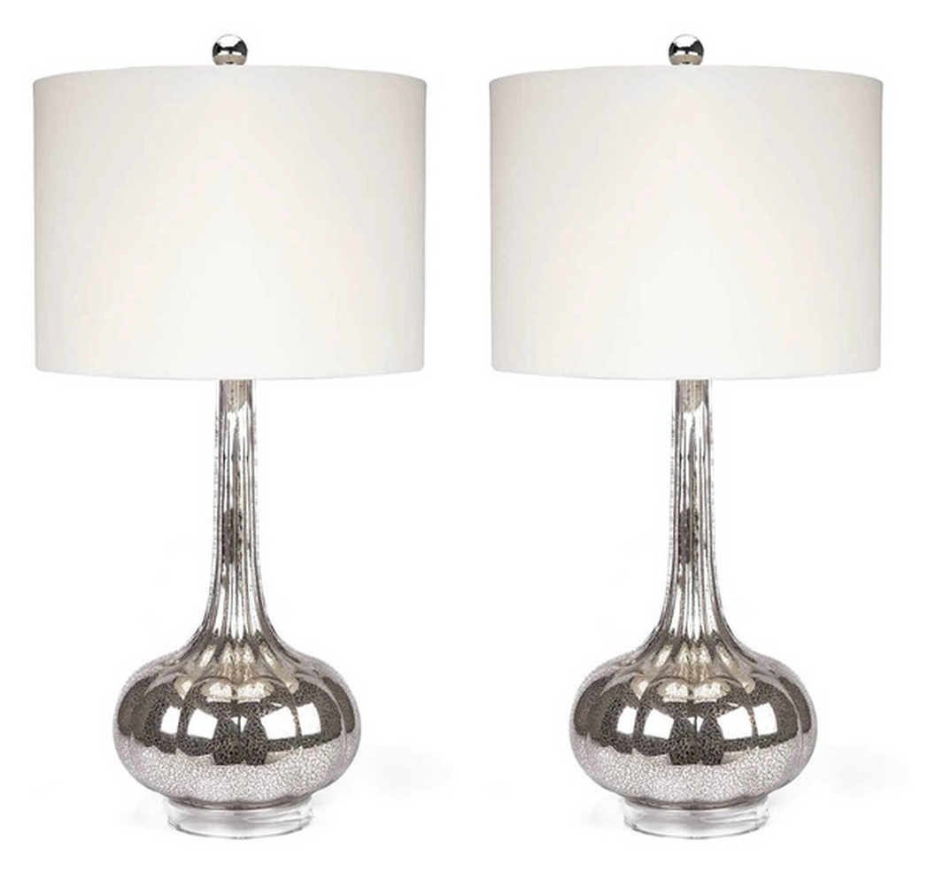 Merveilleux Overstock ABBYSON LIVING Mercury Antiqued Glass Table Lamp (Set Of 2)