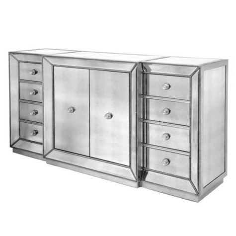 Horchow Shilo Two Door Mirrored Console Copy Cat Chic