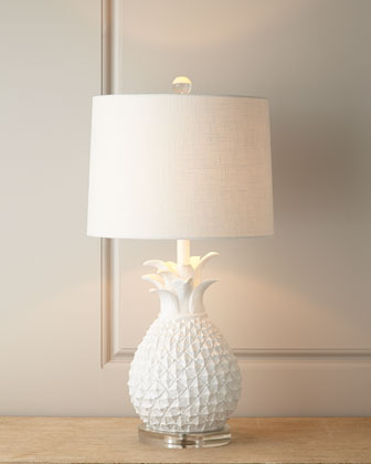 Horchow White Pineapple Lamp