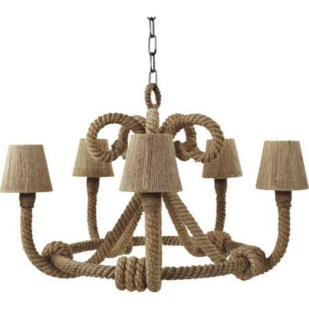 Jamie Young Jute Nautique Chandelier