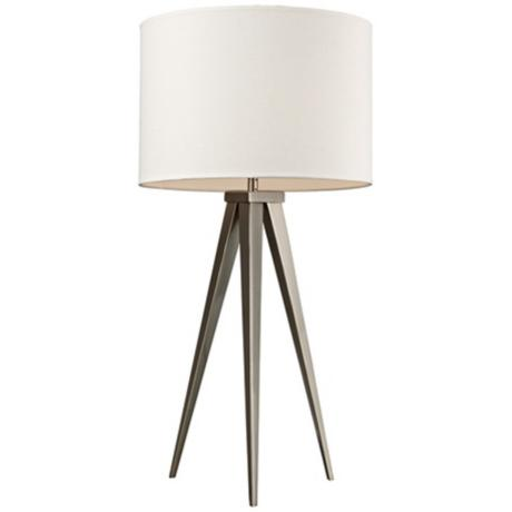 Lamps Plus Dimond Salford Satin Nickel Tripod Table Lamp