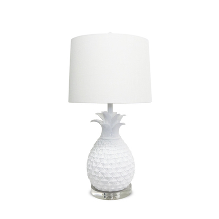 Overstock White Pineapple Lamp