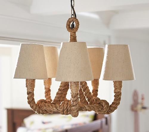 Pottery Barn Kids Rope Chandelier Pendant