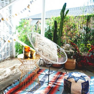 Copy Cat Chic Room Redo | Desert Boho Patio