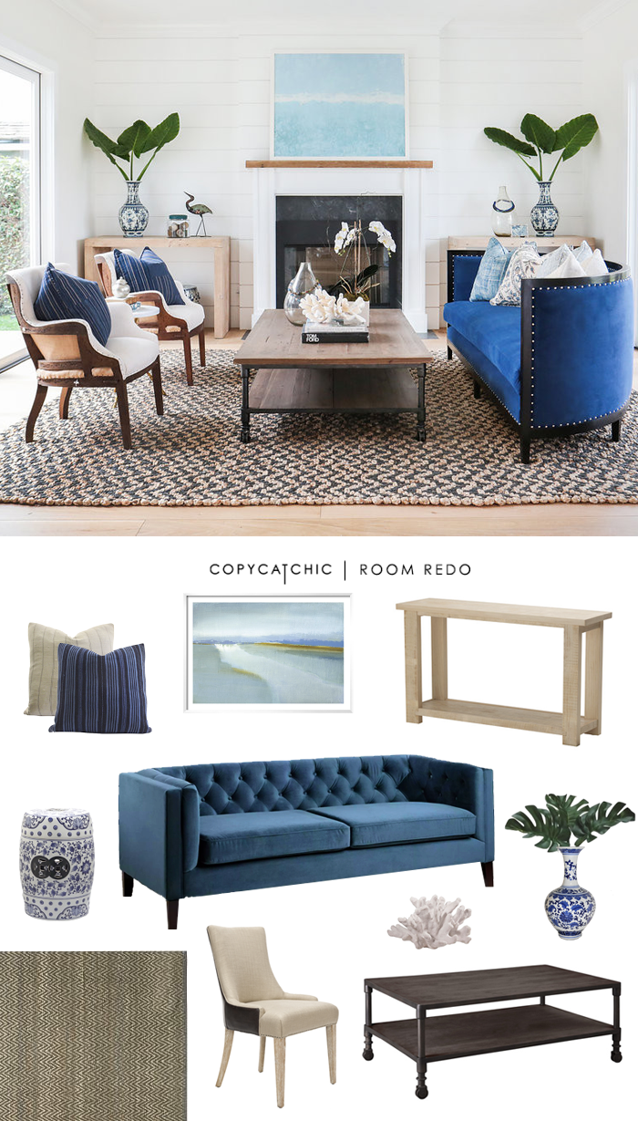 Copy Cat Chic Room Redo Coastal Glam Living Space